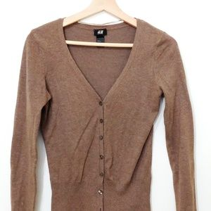 H&M Ladies Taupe Cardigan Size XS